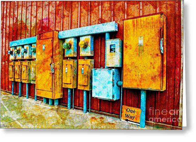 Electrical Boxes Iv Greeting Card