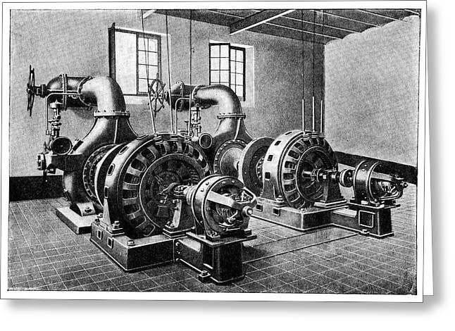 Electrical Generators Greeting Card by Science Photo Library