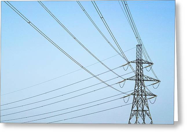 Electricity Pylon Greeting Card