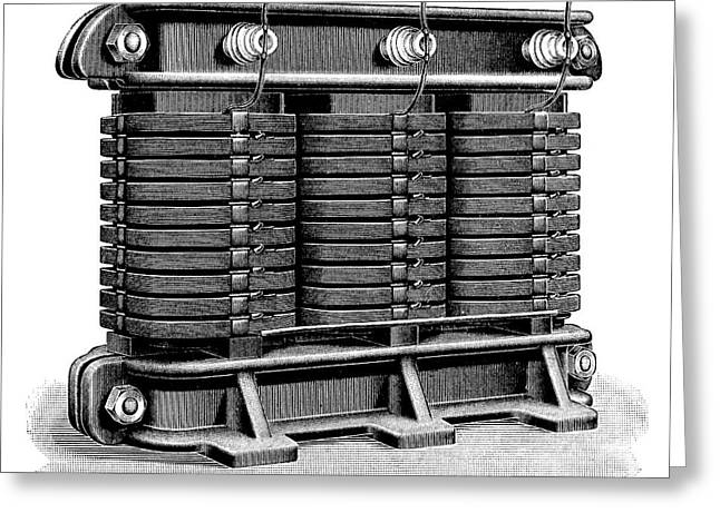 Electricity Transformer Greeting Card by Science Photo Library