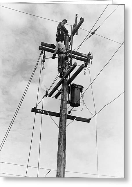 Electrification, 1938 Greeting Card by Granger