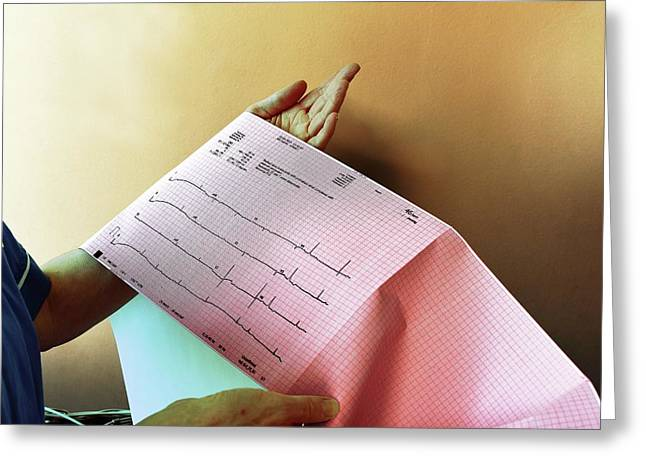 Electrocardiography Test Results Greeting Card