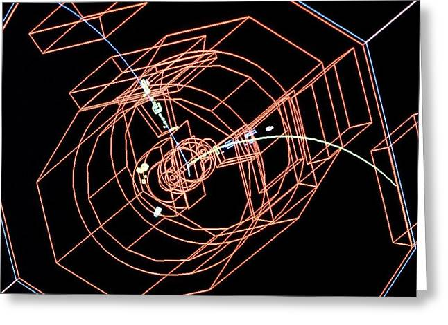 Electron-positron Collision Greeting Card by Science Photo Library