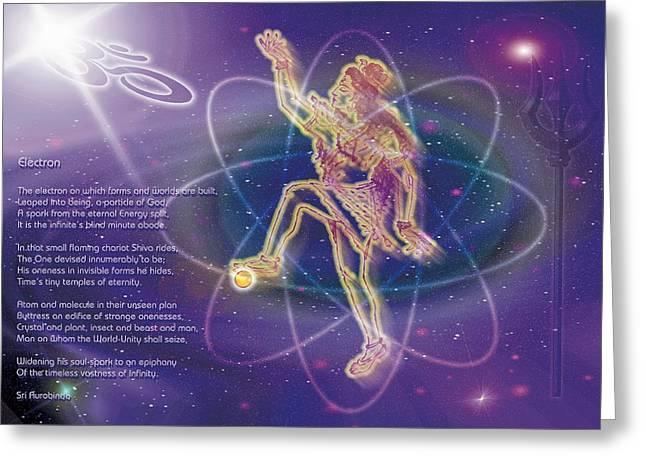 Electron Greeting Card by Shiva Vangara