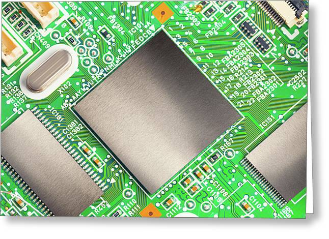 Electronic Printed Circuit Board Greeting Card