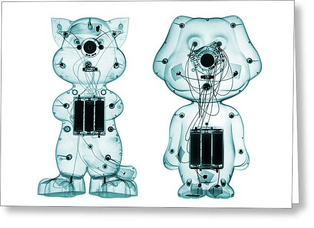 Electronic Toys Greeting Card by Brendan Fitzpatrick