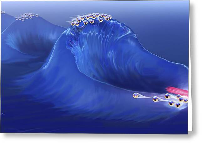 Electrons Surfing A Plasma Wave Greeting Card