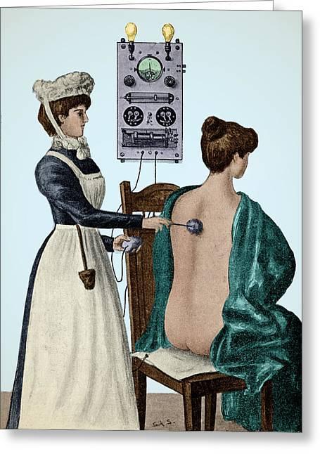 Electrotherapy, Faradization, 1900 Greeting Card