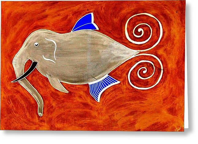 Elefant Greeting Card by Rodemondo Rocca