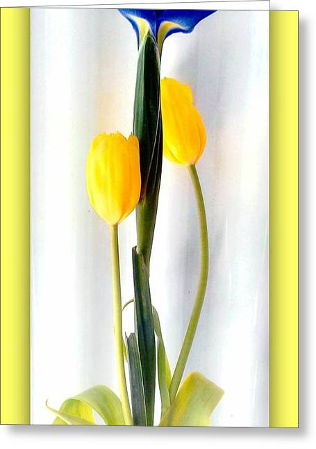 Elegance In Bloom Greeting Card by Michelle Frizzell-Thompson