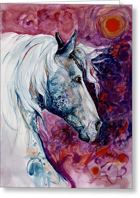 Elegant Horse Greeting Card by Mary Armstrong