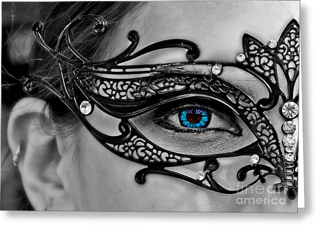 Elegant Mask Greeting Card by Tom Gari Gallery-Three-Photography