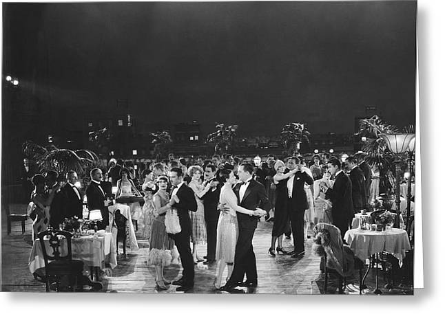 Elegant Outdoor Dance Party Greeting Card by Underwood Archives