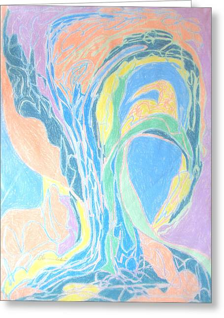 Greeting Card featuring the painting Elegy To A Tree by Esther Newman-Cohen
