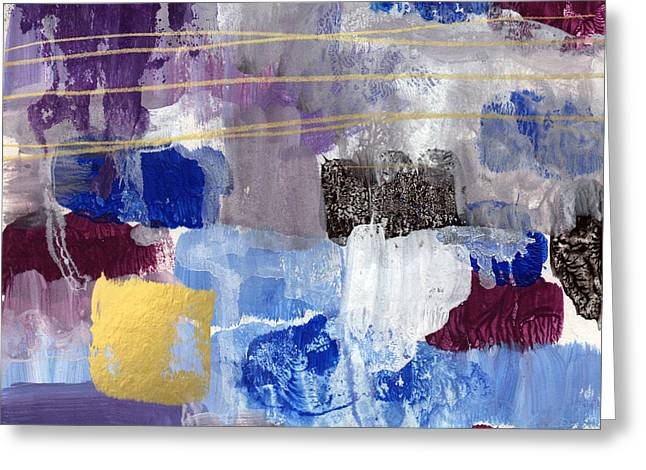 Elemental- Abstract Expressionist Painting Greeting Card by Linda Woods