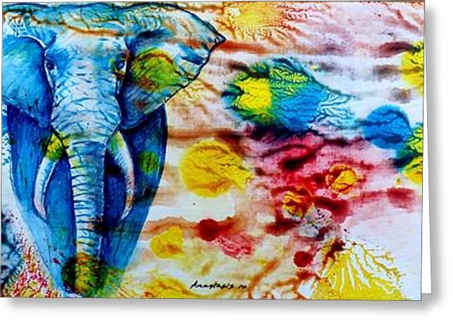 Elepant Abstract Greeting Card
