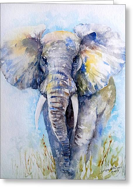 Elephant Blues Greeting Card