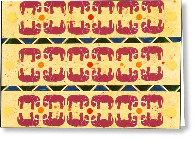 Elephant Dance Greeting Card