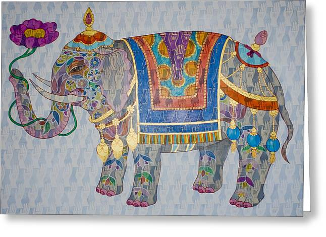 Elephant Greeting Card by Jennifer Mazzucco