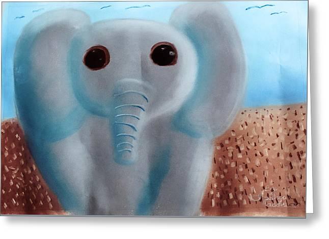 Animalart Elephant Greeting Card