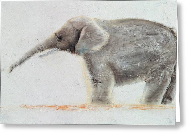 Elephant  Greeting Card by Jung Sook Nam