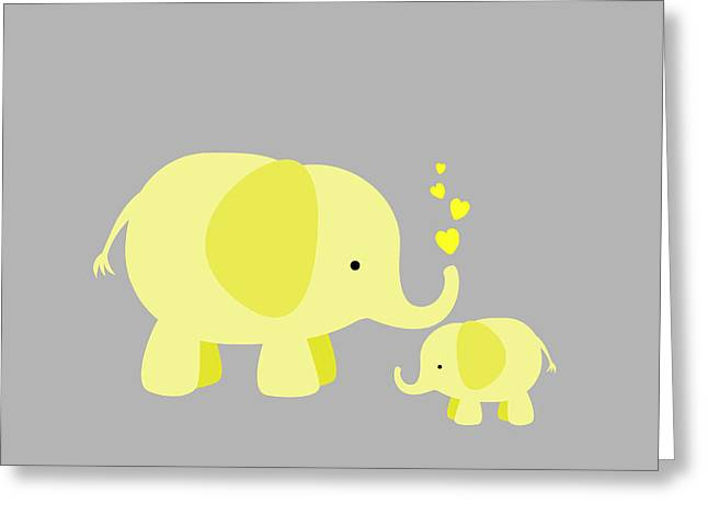 Elephant Love Greeting Card by Chastity Hoff