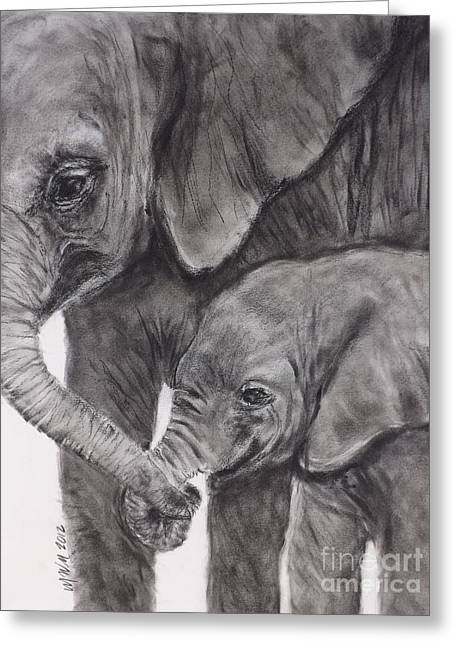 Elephant Love Greeting Card by Michelle Wolff