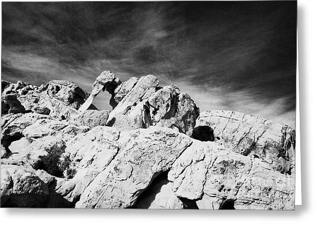 Elephant Rock Sandstone Rock Formation Valley Of Fire State Park Nevada Usa Greeting Card