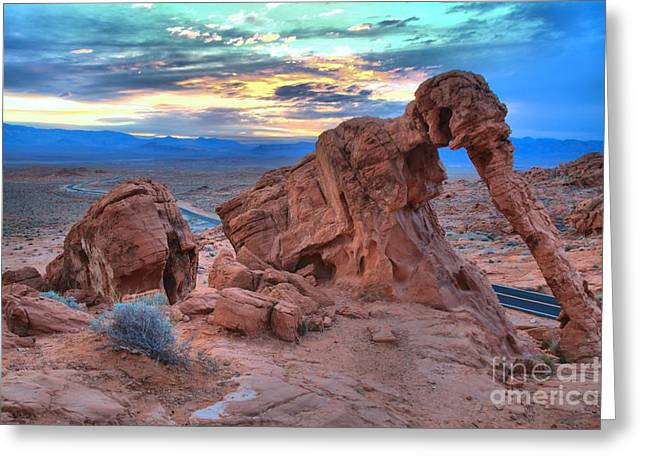 Elephant Rock Sunrise Greeting Card