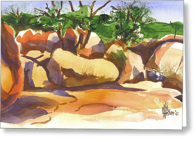 Elephant Rocks Revisited I Greeting Card