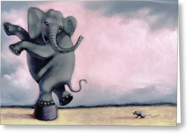 Elephant Greeting Card by Steve Dininno