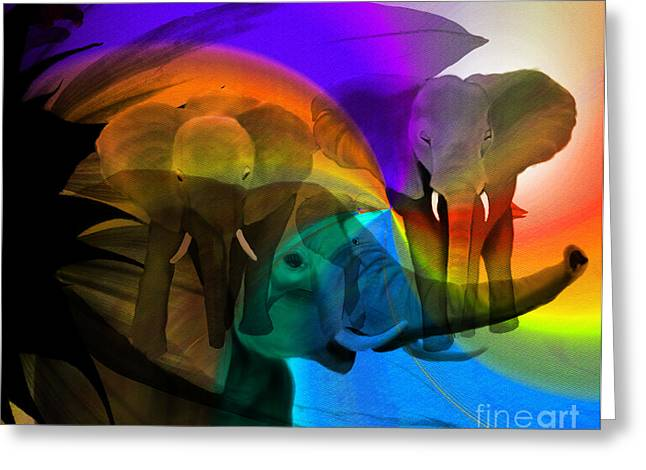 Elephant Walk Greeting Card by Sydne Archambault