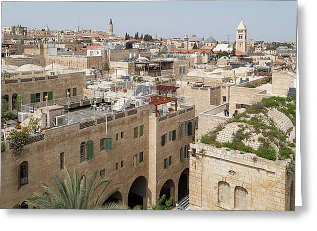 Elevated View Of A City, Jewish Greeting Card
