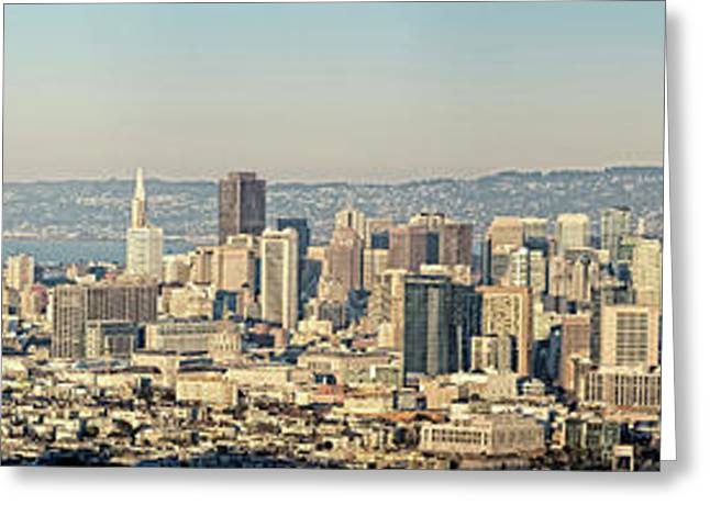 Elevated View Of A Cityscape, San Greeting Card