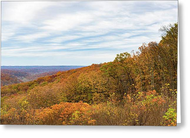 Elevated View Of Autumn Trees, Brown Greeting Card by Panoramic Images