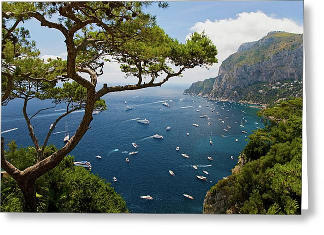 Elevated View Of Blue Waters Greeting Card