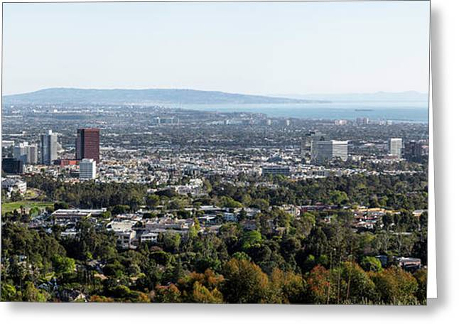 Elevated View Of Buildings, West Los Greeting Card by Panoramic Images