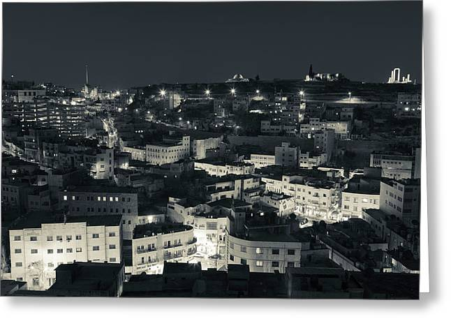 Elevated View Of Central Amman Greeting Card