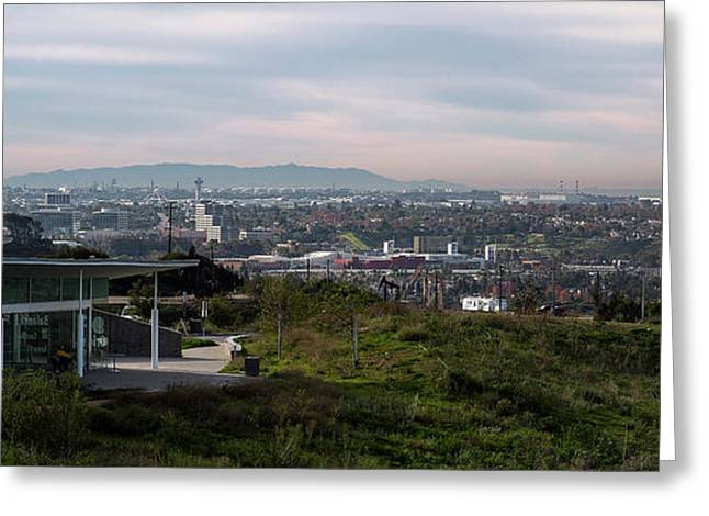 Elevated View Of City, Culver City, Los Greeting Card by Panoramic Images