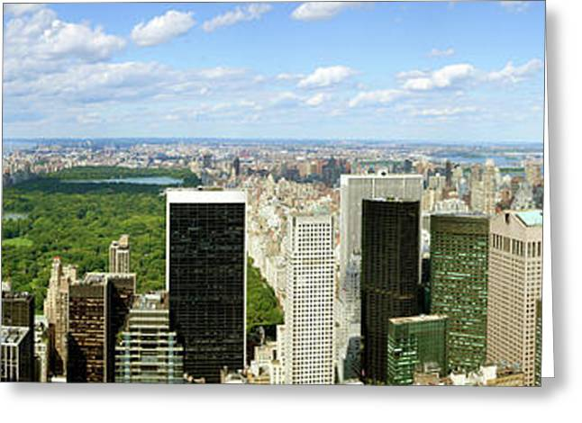 Elevated View Of Cityscape From Top Greeting Card