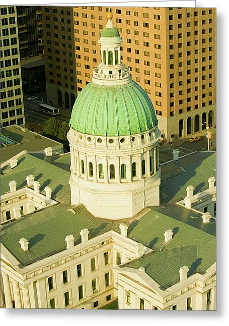 Elevated View Of Dome Of Saint Louis Greeting Card