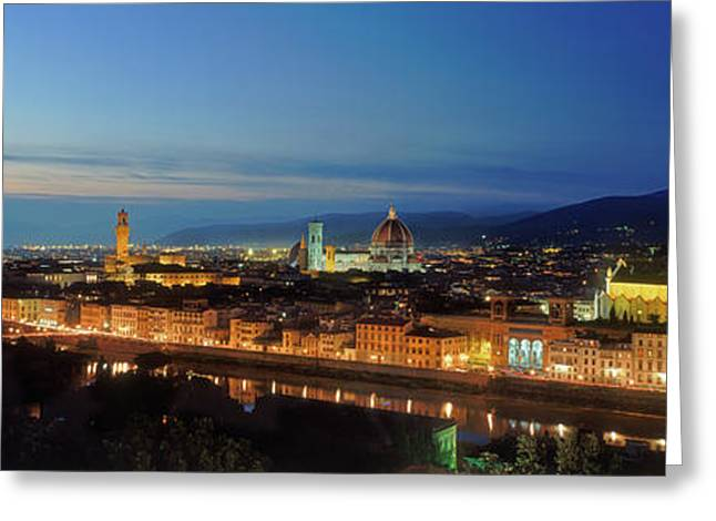 Elevated View Of Florence City Greeting Card