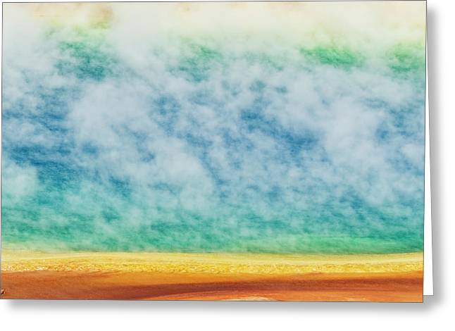 Elevated View Of Grand Prismatic Spring Greeting Card