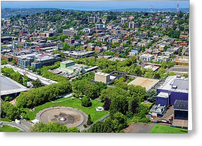 Elevated View Of Keyarena, Seattle Greeting Card