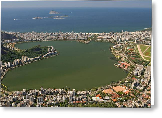 Elevated View Of Lagoa Rodrigo De Greeting Card