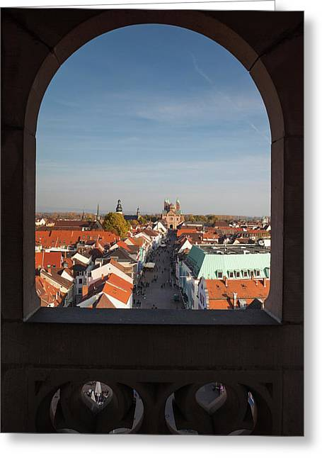 Elevated View Of Maximilianstrasse Greeting Card