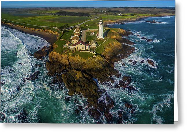 Elevated View Of Pigeon Point Greeting Card