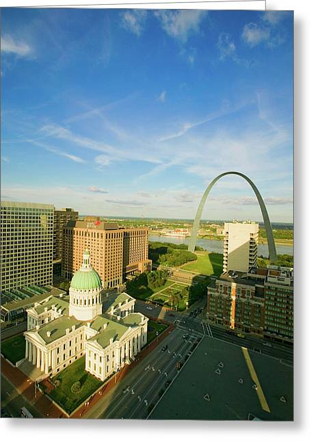 Elevated View Of Saint Louis Historical Greeting Card
