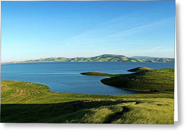 Elevated View Of San Luis Reservoir Greeting Card