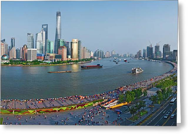 Elevated View Of Skylines, Oriental Greeting Card by Panoramic Images